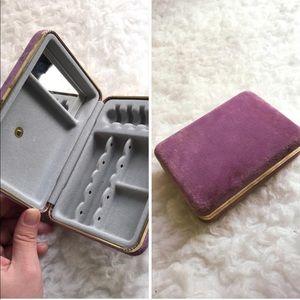 Vintage mini travel jewelry case